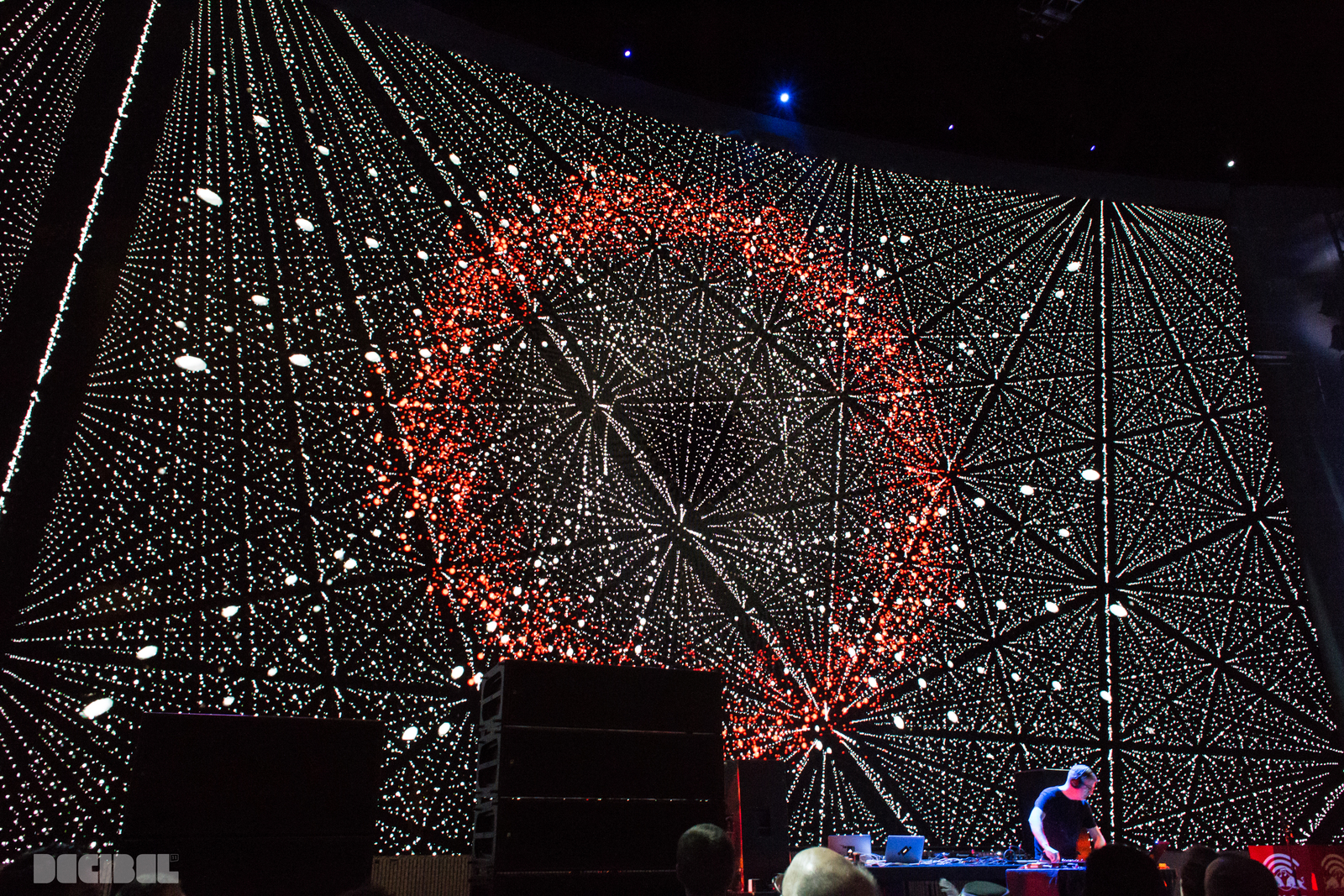 Lucine preforming at the EMP's Sky Church for Decibel 2014's Opening Gala